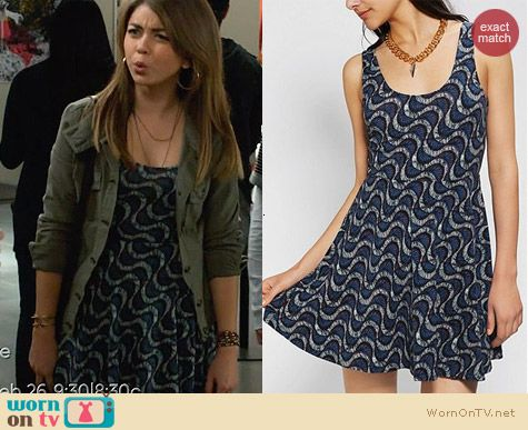 Urban Outfitters Ecote Boho Print Skater Dress worn by Sarah Hyland on Modern Family