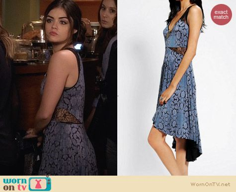 Urban Outfitters Ecote High Low Lace Dress worn by Lucy Hale on PLL