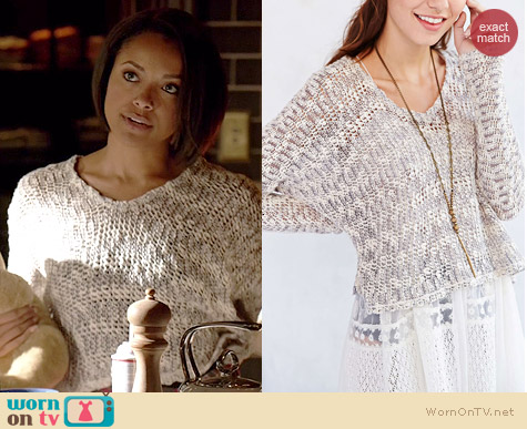 Ecote Virtual Insanity Cropped Sweater worn by Kat Graham on The Vampire Diaries