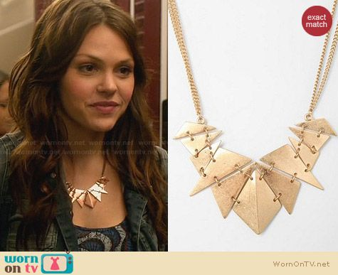 Urban Outfitters Geometry Class Necklace worn by Aimee Teegarden on Star-Crossed