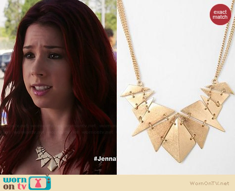 Urban Outfitters Geometry Class Necklace worn by Jillian Rose Reed on Awkward