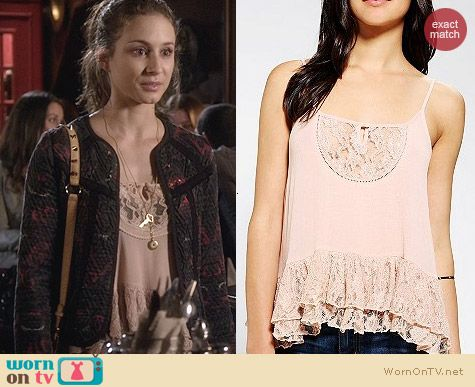 Urban Outfitters Kimchi Blue Tiered Lace-Hem Cami worn by Troian Bellisario