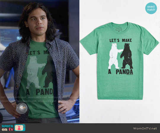 Urban Outfitters Lets Make a Panda Tee worn by Carlos Valdes on The Flash
