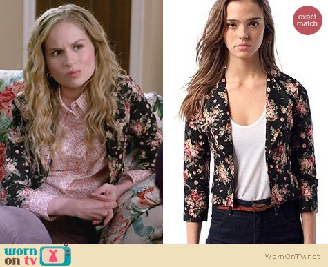 Urban Outfitters Lucca Couture Cropped Jacket worn by Allie Grant on Suburgatory