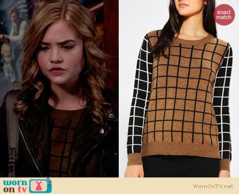 Urban Outfitters Lucca Couture Windowpane Sweater worn by Maddie Hasson on Twisted
