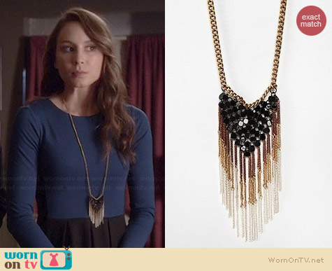 Urban Outfitters Mesh Fringe Necklace worn by Troian Bellisario on PLL
