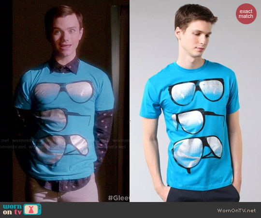 Public Domain Foil Glasses Tee worn by Chris Colfer on Glee