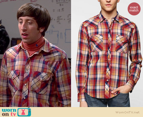Salt Valley Salle Western Plaid Shirt worn by Simon Helberg on The Big Bang Theory