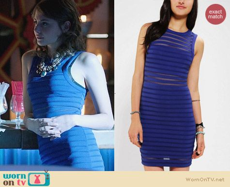 Urban Outfitters Silence & Noise Illusion Stripe Bodycon Dress worn by Willa Holland