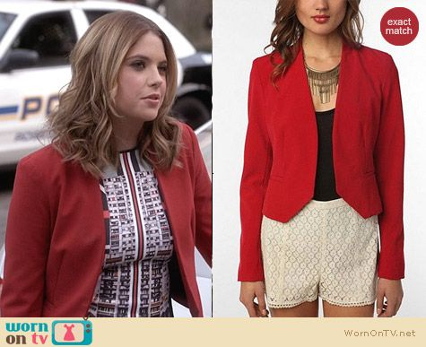 Urban Outfitters Sparkle & Fade Silhouette Blazer worn by Ashley Benson on PLL