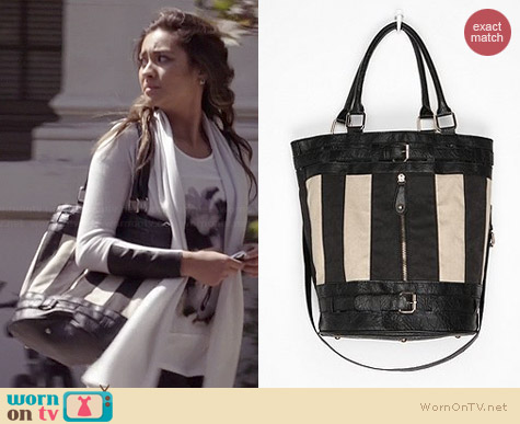 Cooperative Striped Bucket Bag worn by Shay Michell on PLL