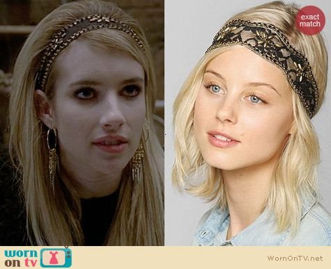 Urban Outfitters Swan Lake Headwrap worn by Emma Roberts on AHS Coven