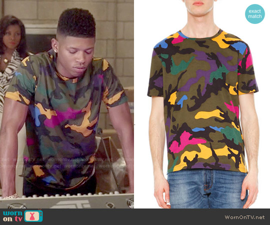 Valentino Camo-Print Crewneck Tee worn by Bryshere Y. Gray on Empire