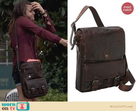 Vampire Diaries Bags: Spikes & Sparrow North/South Messenger Bag worn by Nina Dobrev