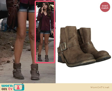The Vampire Diaries Shoes: All Saints Jules Biker Boots worn by Nina Dobrev