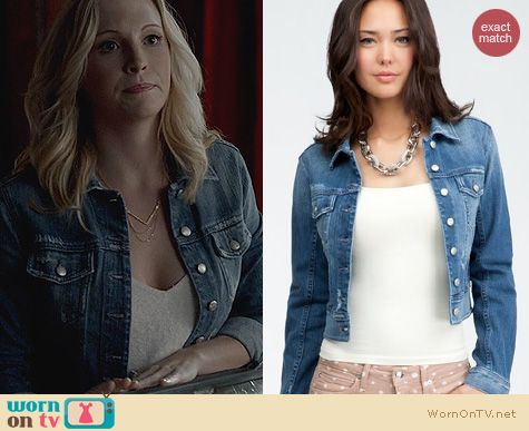 The Vampire Diaries Fashion: Bebe Denim Jacket worn by Candice Accola