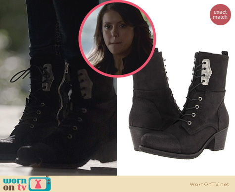 The Vampire Diaries Fashion: DIesel The Wild Land Canionik Boots worn by Nina Dobrev