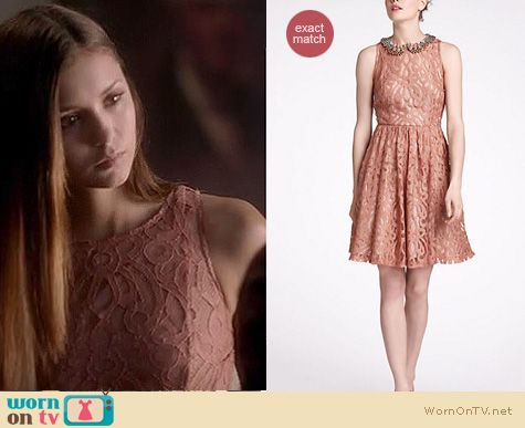 Vampire Diaries Fashion: Anthropologie Mariposa lace dress worn by Nina Dobrev