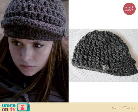 The Vampire Diaries Fashion: Etsy HunkyDoriBoutique crochet brimmed hat worn by Nina Dobrev