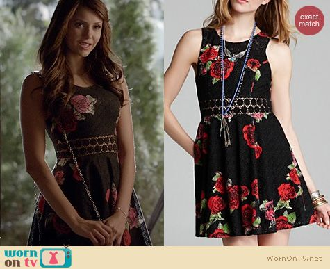 The Vampire Diaries Fashion: Free People Daisy Waist Dress worn by Nina Dobrev