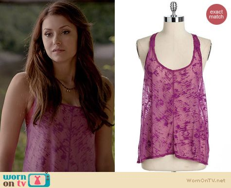 The Vampire Diaries Fashion: Jessica Simpson Abebe Tank worn by Nina Dobrev