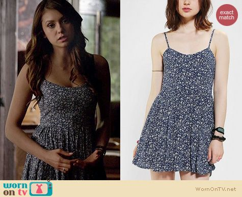 The Vampire Diaries Fashion: Lucca Couture Floral Babydoll Dress worn by Nina Dobrev
