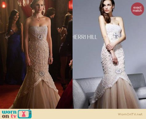 The Vampire Diaries Fashion: Sherri Hill Prom dress worn by Caroline Forbes