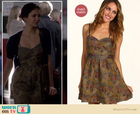 The Vampire Diaries Fashion: Free People Tapestry dress worn by Nina Dobrev