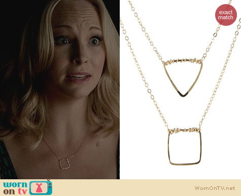 The Vampire Diaries Jewelry: Peggy Li Small Geo Shape Necklace worn by Candice Accola