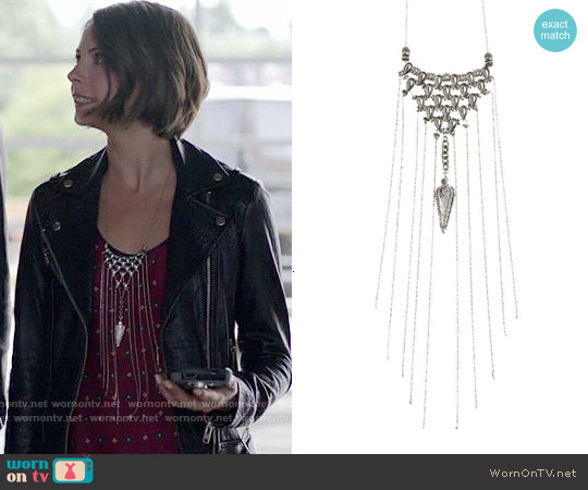 Vanessa Mooney Isabella Necklace worn by Thea Queen on Arrow