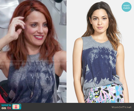 Vans Fox You Graphic Tank worn by Alanna Ubach on GG2D