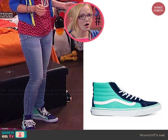 Vans Sk8-Hi Slim 2 Tone Sneakers worn by Maddie Rooney on Liv & Maddie