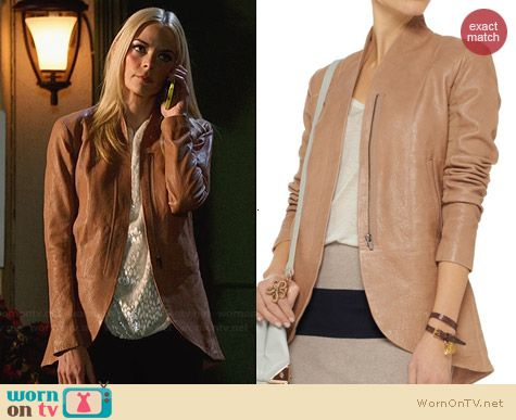 Veda Atlas Leather Jacket worn by Jaime King on Hart of Dixie