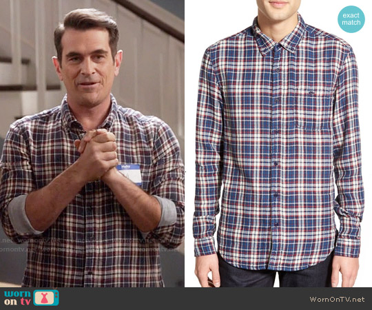 Velvet by Graham & Spencer Abel Shirt in Ecru Cream worn by Ty Burrell on Modern Family