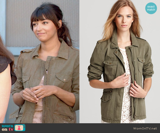 Velvet by Graham & Spencer Army Jacket worn by Hannah Simone on New Girl
