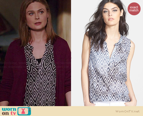 Velvet by Graham & Spencer Ikat Tank worn by Emily Deschanel on Bones