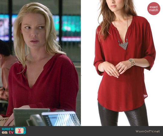 Velvet Rosie Blouse in Ruddy worn by Katherine Heigl on State of Affairs