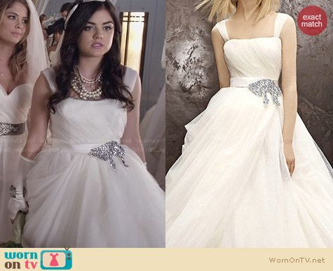 Vera Vw351129 Wedding Gown Worn By Lucy Hale On Pll