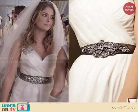 Vera Wang Crystal Sash worn by Ashley Benson on PLL