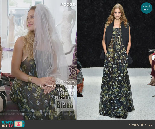 Vera Wang Spring 2015 Collection Floral Maxi Dress worn by Beau Garrett on GG2D
