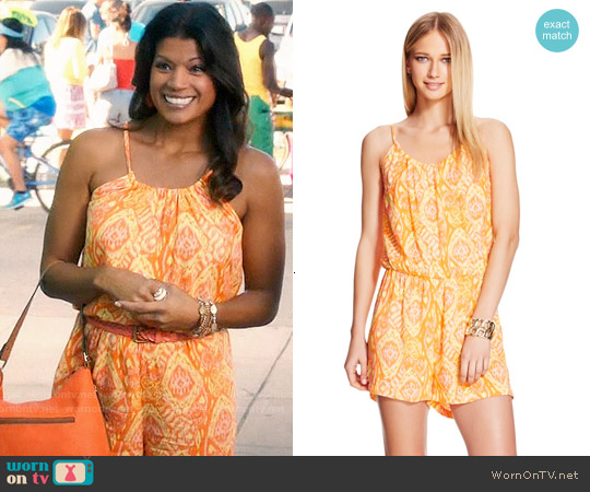 Target Vero Moda Printed Romper worn by Andrea Navedo on Jane the Virgin