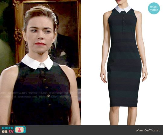 Veronica Beard Sleeveless Cedar Pencil Dress worn by Amelia Heinle on The Young & the Restless