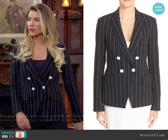 Veronica Beard Daytona Pinstripe Blazer worn by Jacqueline MacInnes Wood on The Bold & the Beautiful