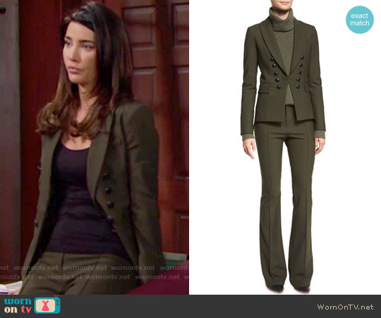 Veronica Beard Sarin Jacket and Hibiscus Pants worn by Jacqueline MacInnes Wood on The Bold & the Beautiful
