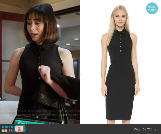 Veronica Beard Scuba Sleeveless Shirtdress worn by Cristin Milioti on The Mindy Project