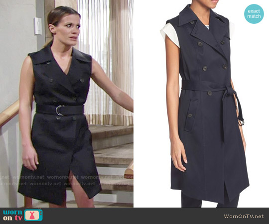 Veronica Beard Socal Trench Vest worn by Melissa Claire Egan on The Young & the Restless
