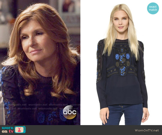 Veronica Beard Tobie Top worn by Connie Britton on Nashville