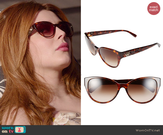 Versace Rock Icons Vanitas Cat Eye Sunglasses worn by Louise Ellis on Revenge