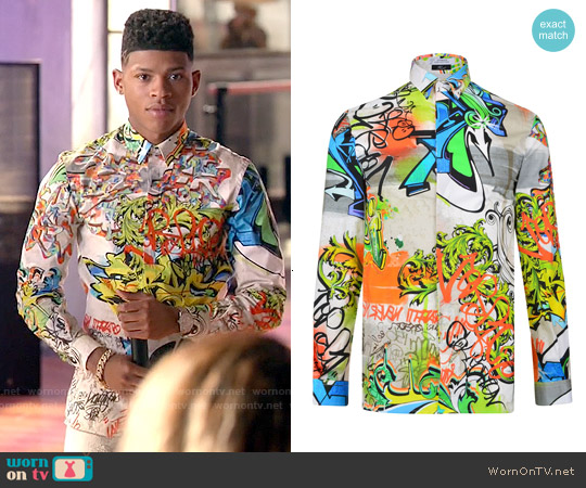 Versace Collection Graffiti Shirt worn by Bryshere Y. Gray on Empire