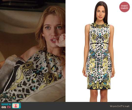 Versace Collection Graphic Print Sheath Dress worn by Yael Grobglas on Jane the Virgin